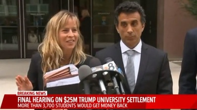 Robbins Geller's Trump University Litigation Team Talks to Fox 5 on Courthouse Steps
