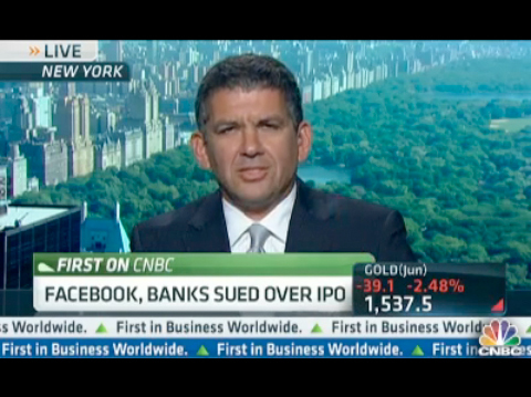 Sam Rudman Explains Facebook IPO Class Action Lawsuit on CNBC